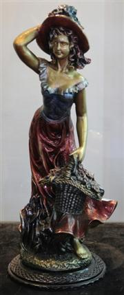 Sale 7950 - Lot 34 - Figure of Lady with Basket of Flowers