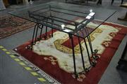 Sale 8165 - Lot 1025 - Metal Garden Table w Glass Top