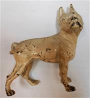 Sale 8256A - Lot 73 - An early French Bulldog cast iron door stop with original cream paint. Size: 24 x 22 cm long