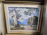 Sale 8437 - Lot 2072 - Mary Urquhart - Valley Road, oil on board, 40 x 49.5cm, signed lower left