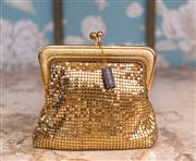 Sale 8474A - Lot 58 - A smart vintage gold Oroton mesh coin purse deadstock, with original Oroton tag, condition is excellent, size: 11cm high x 13cm wide
