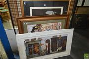 Sale 8509 - Lot 2093 - Group of (3) Frame Decorative Prints incl. Limited Edition Print signed by Reinhard