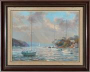 Sale 8818A - Lot 67 - O. Kuster, Dolans Bay, oil on board, 44 x 59, signed and dater LL 86
