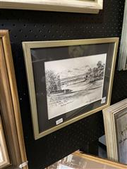 Sale 8891 - Lot 2011 - Cedric Emanuel - Parsley Bay, Sydney Harbour pencil on paper, 28 x 34cm (frame), signed and titled