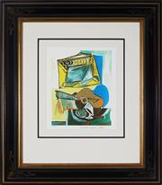 Sale 8998 - Lot 2045 - After Pablo Picasso - Still Life With Guitar 31.5 x 25 cm (frame: 79 x 69 x 3 cm)