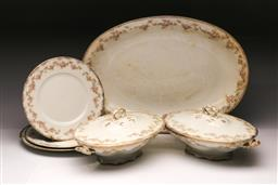 Sale 9110 - Lot 322 - Pair of Meakin tureens, serving tray and 2 plates