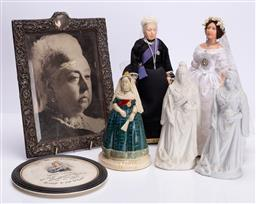 Sale 9185E - Lot 197 - A collection of items including queen victoria related items and other dolls