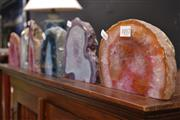 Sale 8066 - Lot 1017 - 6 Polished Agate Geodes