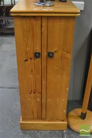 Sale 8289 - Lot 1062 - Timber Two Swing Door Cabinet