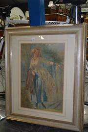 Sale 8347A - Lot 64 - George Baxter (1804 - 1867) - The Parting Look, 1858 50.5 x 34cm