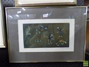 Sale 8407T - Lot 2073 - Framed Print Labelled Leikinvalvoja, signed