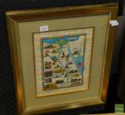 Sale 8471 - Lot 2061 - Framed Treasures of the Nile print, signed lower left, 20 x 26cm