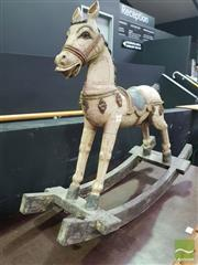 Sale 8495F - Lot 1004 - Vintage Carved Timber Horse