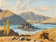 Sale 8583A - Lot 5036 - Leslie Campbell (1925 - ) - Banks Peninsula, New Zealand 34 x 44cm