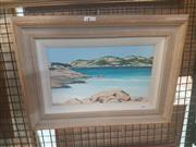 Sale 8650 - Lot 2029 - Juli Curtain - Cape Le Grand, oil painting, 17 x 29.5cm, signed lower right