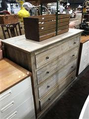 Sale 8893 - Lot 1094 - Contemporary Whitewash Finished Chest of Four Drawers