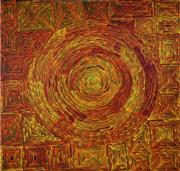 Sale 9013 - Lot 562 - Ronnie Tjampitjinpa (c1943 - ) - Fire Dreaming 211 x 214 cm (stretched and ready to hang)