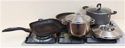 Sale 9150H - Lot 199 - A collection of kitchen pans including Scanpan, Tefal and others