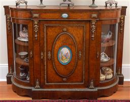 Sale 9190W - Lot 73 - A fine quality mid C19th credenza with Sevres porcelain plaques. Height 106 x width 154 x depth 41cm