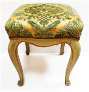 Sale 8272A - Lot 74 - An antique French painted finish footstool / ottoman  Size  48 x 41 x 41 cm