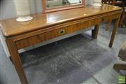 Sale 8326 - Lot 1381 - Timber Hall Table with Two Drawers