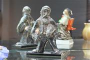 Sale 8346 - Lot 3 - Sterling Silver Figure of a Fisherman
