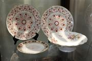Sale 8360 - Lot 107 - Crown Derby Centrepiece Dish and Plates