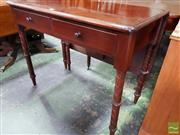 Sale 8485 - Lot 1084 - Unusual Late 19th Century Cedar Drop-Leaf Table, with two drawers & turned spiral legs, with drop-leaf at back on gate-leg action