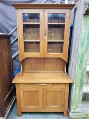 Sale 8566 - Lot 1328 - Pine Buffet and Hutch (106 x 200 x 43)