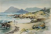 Sale 8622 - Lot 2017 - Heather Maltby (1929 - ) - Kommetjie Beach (Cape Town) 32.5 x 50.5cm