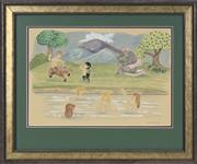 Sale 8779 - Lot 2030 - Frank Follmer (1913 - 2000) - Bathing Disney Nymphs 28 x 41cm