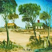 Sale 8773 - Lot 542 - Kevin Charles (Pro) Hart (1928 - 2006) - Stockyard 19.5 x 19.5 cm