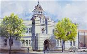 Sale 8787A - Lot 5069 - Donald Cameron (1927 - ) - Old Police Station, Russell Street, Melbourne, c1980 34 x 52cm