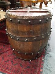 Sale 8904 - Lot 1011 - Timber Drum Side Table (60 x 50cm)
