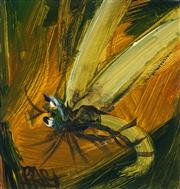 Sale 9013A - Lot 5011 - Kevin Charles (Pro) Hart (1928 - 2006) - Dragonfly 11.5 x 10.5 cm (frame: 32.5 x 32 cm)