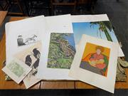 Sale 9045 - Lot 2045 - A good collection of assorted prints and graphics including Jamie Boyd, Stanley Edgar, Ian Pearson, Edith Coleshaw and others. -