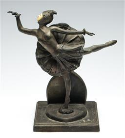 Sale 9255S - Lot 16 - A bronze figure of A dancer in the Chiparus manner Height 25.5cm