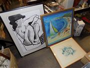 Sale 8422T - Lot 2056 - Artist Unknown, Something Summer and two framed decorative prints
