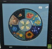 Sale 8522 - Lot 2045 - Artist Unknown Astrology & Constellation, oil on board, d.32cm -