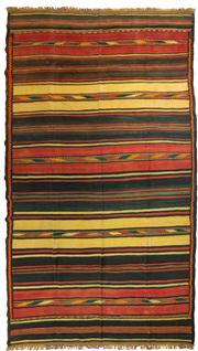 Sale 8780C - Lot 207 - A Hand-Woven Kilim Wool And Natural Material Jute, 435 x 250cm