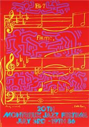 Sale 8955 - Lot 564 - Andy Warhol and Keith Haring - 20th Montreat Jazz Festival 1986 99 x 70 cm (frame: 101 x 74 x 2 cm)