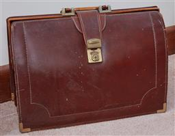 Sale 9103H - Lot 46 - A briefcase and another, larger Width 46cm