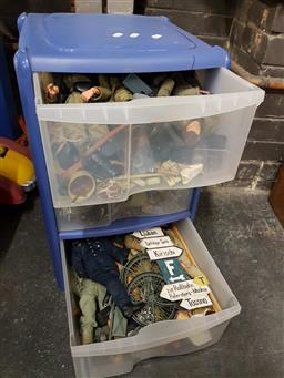 Sale 9176 - Lot 2584 - Large Collection of Dragon 1:6 scale action Figures incl Accessories in Tidy Drawers