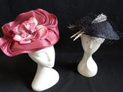 Sale 7982B - Lot 195 - Two fascinators, one pink from the Fillies Collection and one black