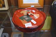 Sale 8189 - Lot 2193 - Japanese Red Lacquer Bowl