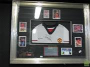 Sale 8214 - Lot 2044 - Bryan Robson, Framed Collage