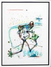 Sale 8261A - Lot 47 - John Olsen, 'Anticipation', archival pigment print A/P, signed and titled in pencil to base, 78 x 59cm