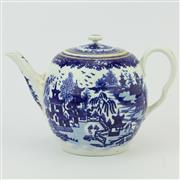 Sale 8356 - Lot 12 - Caughley Late 18th Century Blue & White Teapot