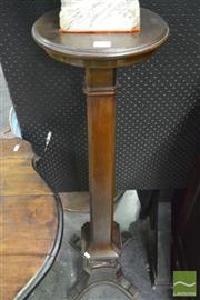 Sale 8359 - Lot 1005 - Early 20th Century Mahogany Pedestal, with circular top, square shaft & outswept feet