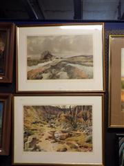 Sale 8429A - Lot 2044 - Joseph Pighills (1902 - 1984) - Country Scenes, (2) limited edition prints, frame size: each 50 x 65cm, each signed lower right